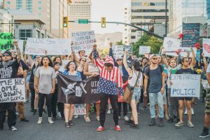 Demonstrators demanding justice for Alton Sterling and Philando Castile in Salt Lake City, July 09, 2016. Photo by Tyson Call